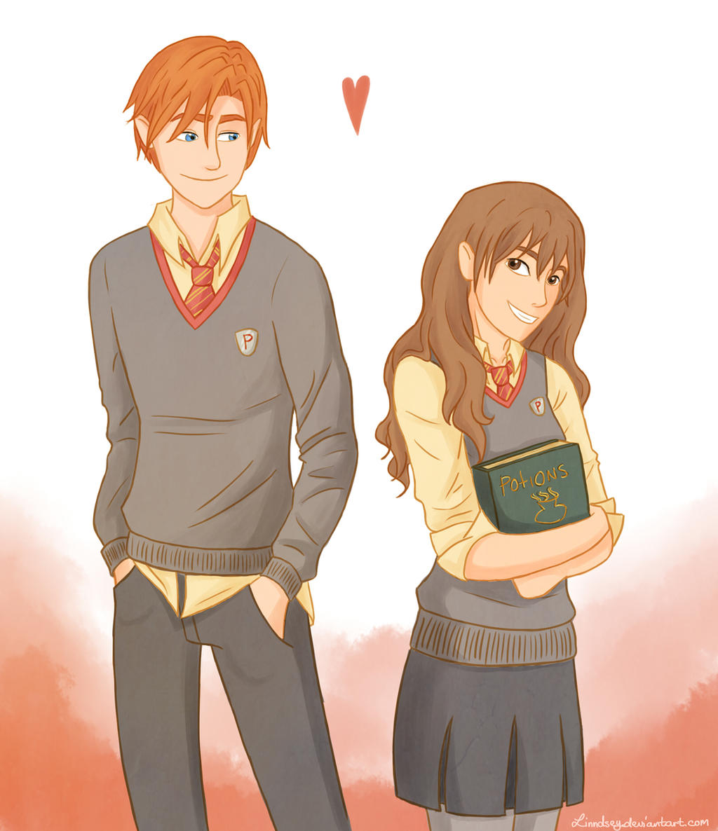 Ron and Hermione by Linndsey