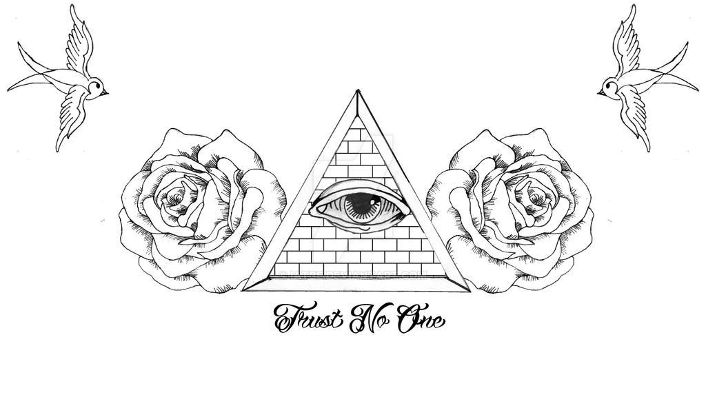 Trust No One Tattoo Design By Iatbe On Deviantart