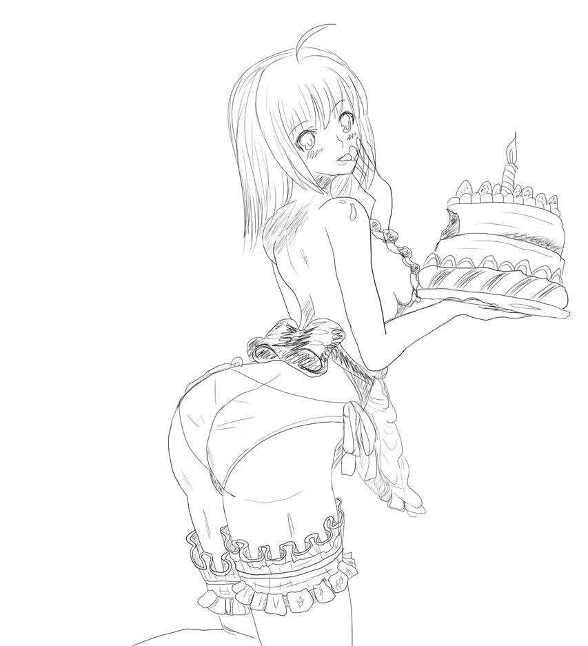 Saber made a cake for you! by ItachiiXSaber