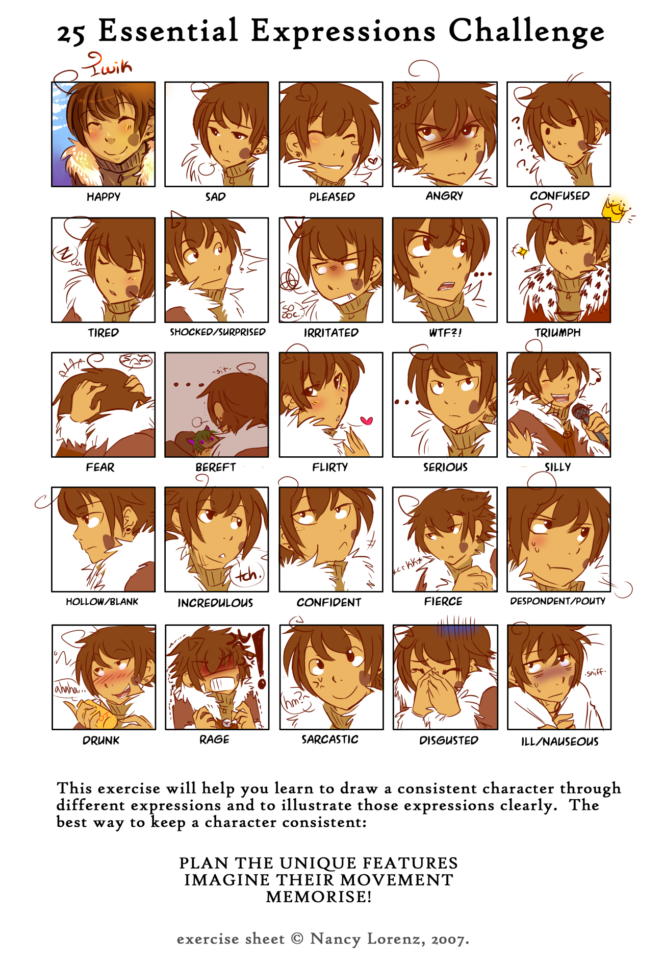 25 Expressions meme by xMits