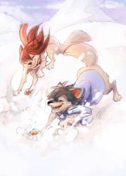 Wolf Children Ame and Yuki by xMits