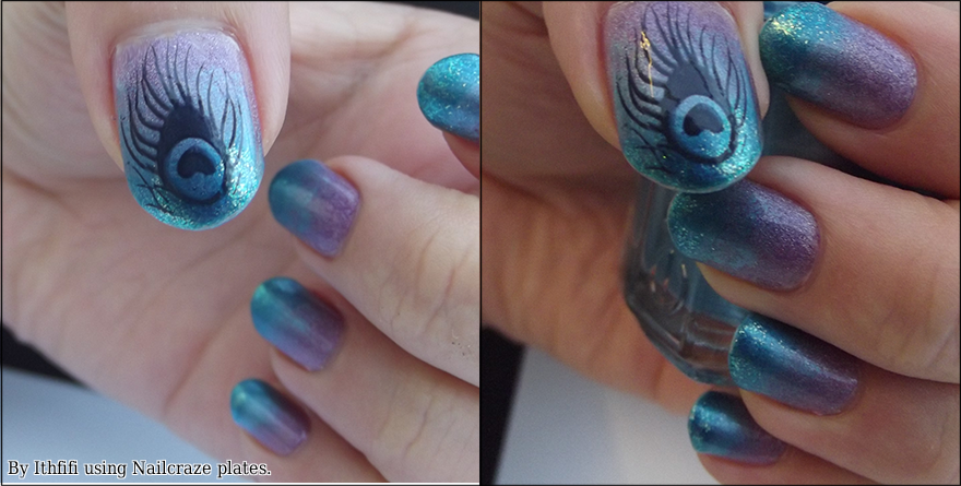 Peacock Nails by Ithfifi