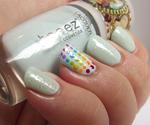 Simple Rainbow Dotticure with Rainbow Flakies!