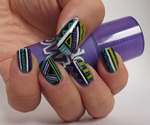 Funky freehand tribal nails