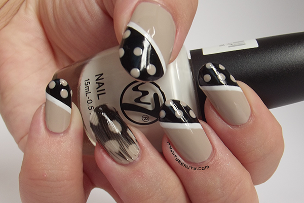 Real Feather Nail Art with Polka Dots! by Ithfifi