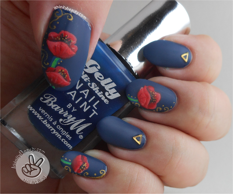 Freehand Remembrance Day Poppy Nail Art By Ithfifi On Deviantart