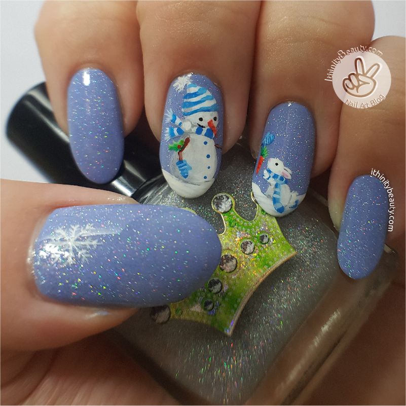 Freehand Holo Snowman Nail Art by Ithfifi on DeviantArt