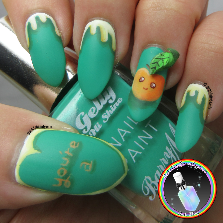 3D Peach Nail Art by Ithfifi