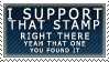 +Stamp to Support Stamps+