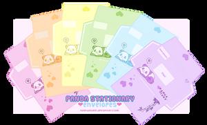 +Panda Stationary: Envelopes+ by nayruasukei
