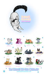 +Kawaii Kitties Calendar+ by nayruasukei