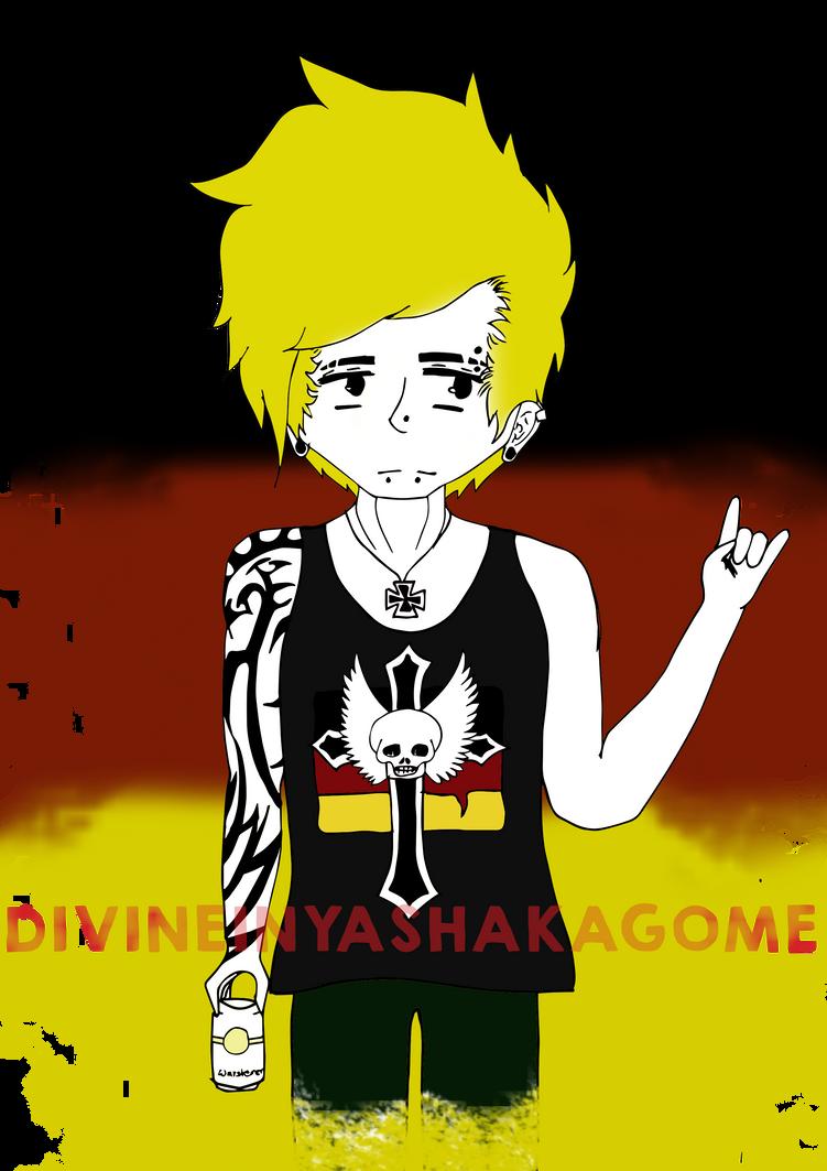 Germany Punk Rock (coloured) by divineinyashakagome