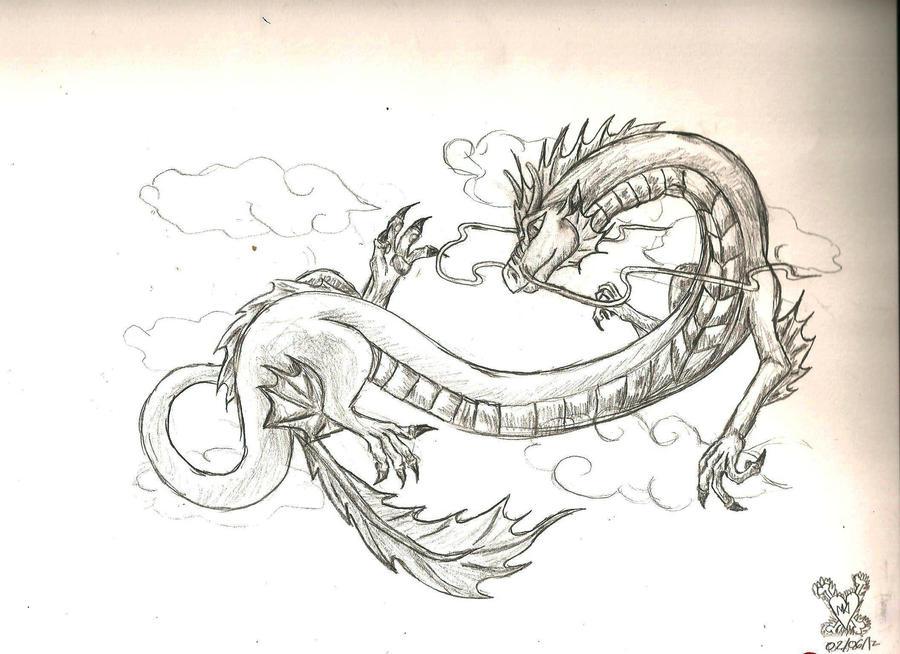 Jade dragon tattoo design by imagine the creation on for Jade dragon tattoo