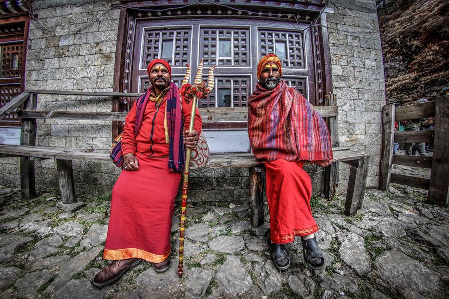 Hindu Priests by ioanabranisteanu