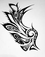 tribal wing by BlakSkull
