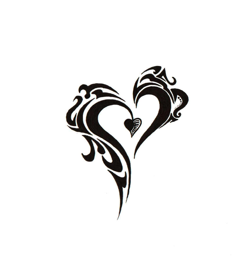 cool heart designs to draw easy. new tribal heart by blakskull cool designs to draw easy