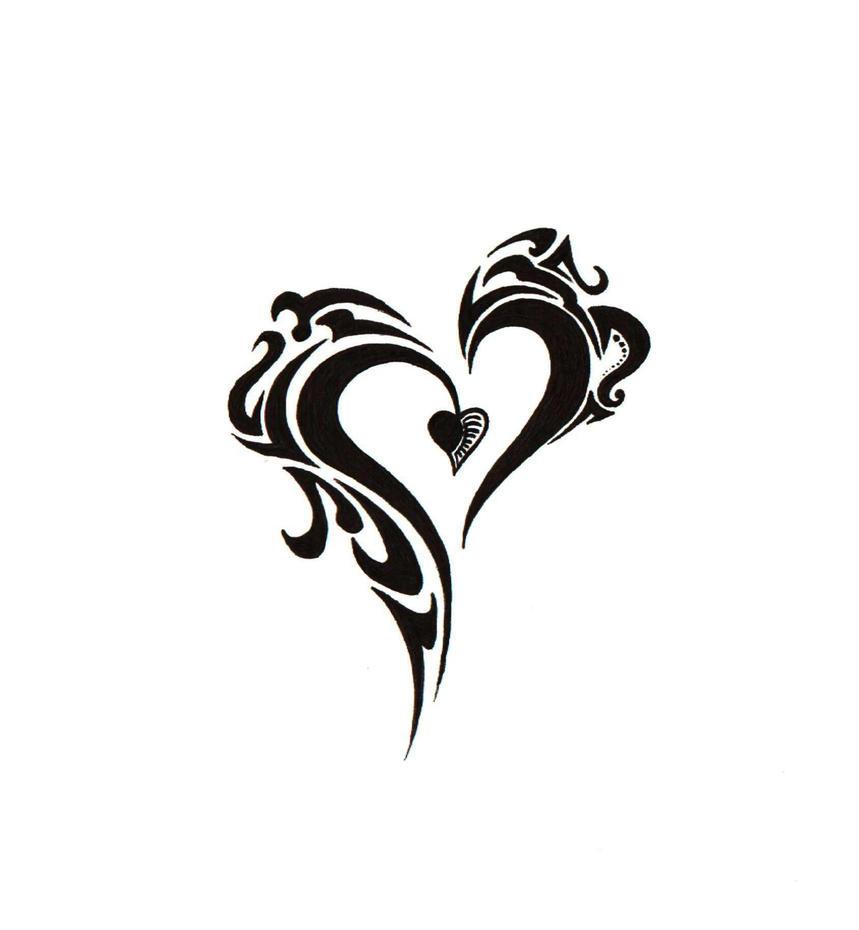 new tribal heart by BlakSkull on DeviantArtTribal Heart Drawing