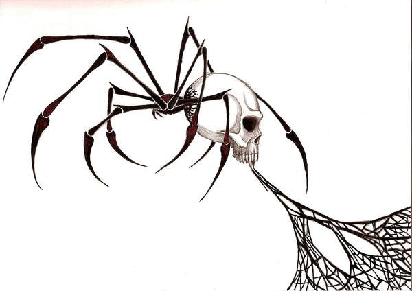 tribal spider skull by blakskull on deviantart. Black Bedroom Furniture Sets. Home Design Ideas