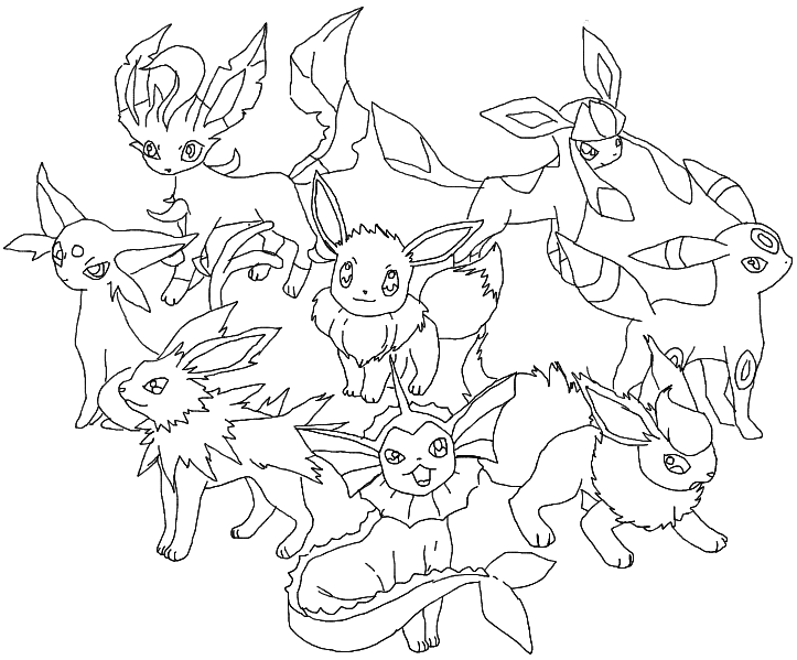 eeveelution coloring pages - photo #7