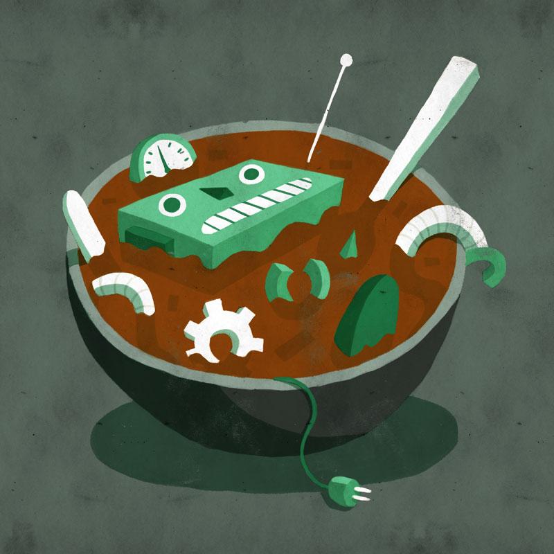 Robot Soup by tedikuma