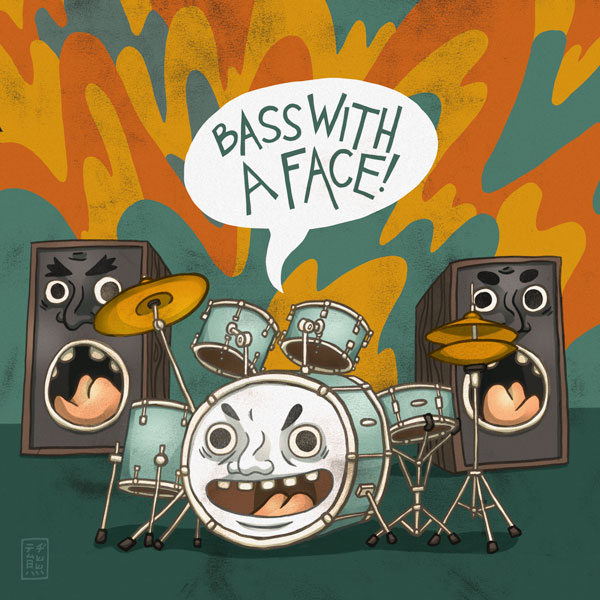 Bass With A Face! by tedikuma