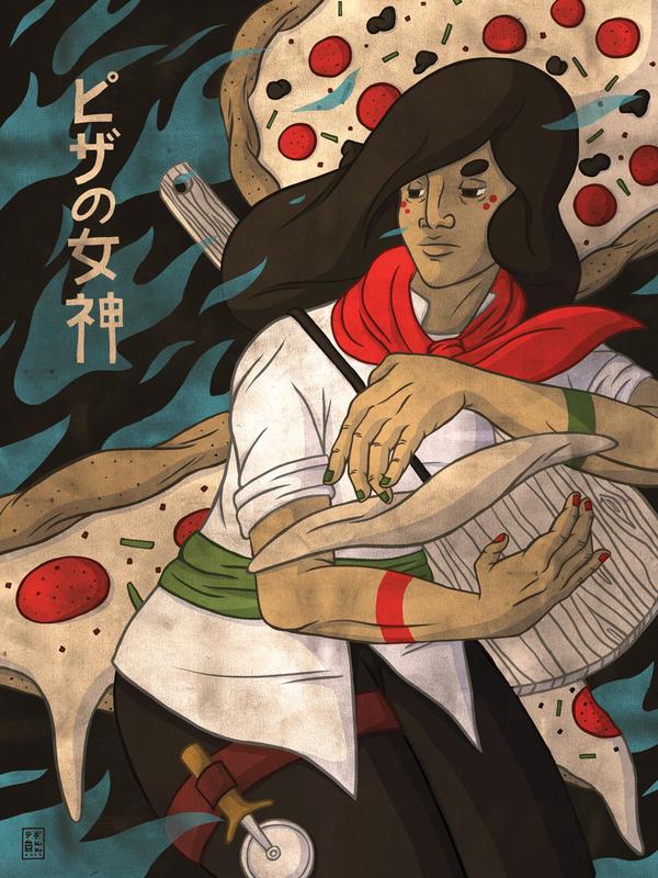 The Pizza Goddess by tedikuma