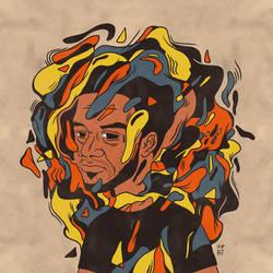 Inktober 2015 - 2 - Self Portrait by tedikuma