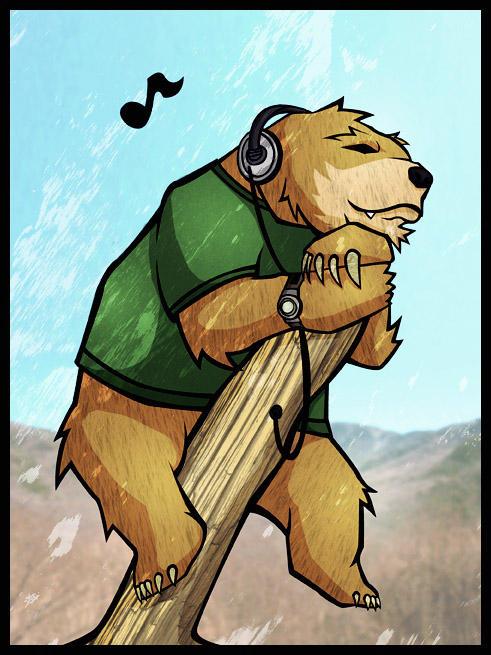 Bear Portrait by tedikuma