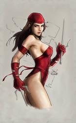 Farlow Elektra CursedColors by crimsonmegatron