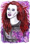 Inktober 2018 #1 - Simone Simons, Epica by SeaCat2401