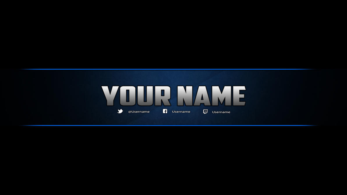 Youtube Banner Template (Photoshop) by DazGames on DeviantArt