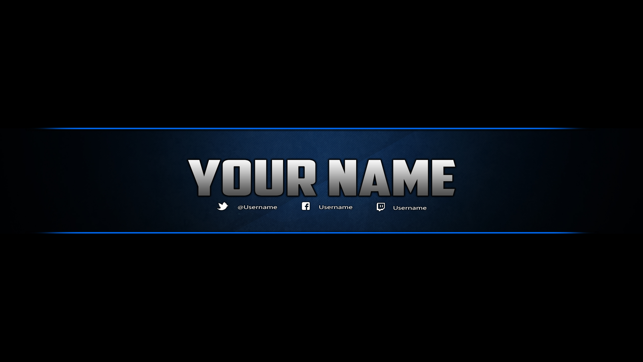 Youtube Banner Template Photoshop By DazGames On DeviantArt