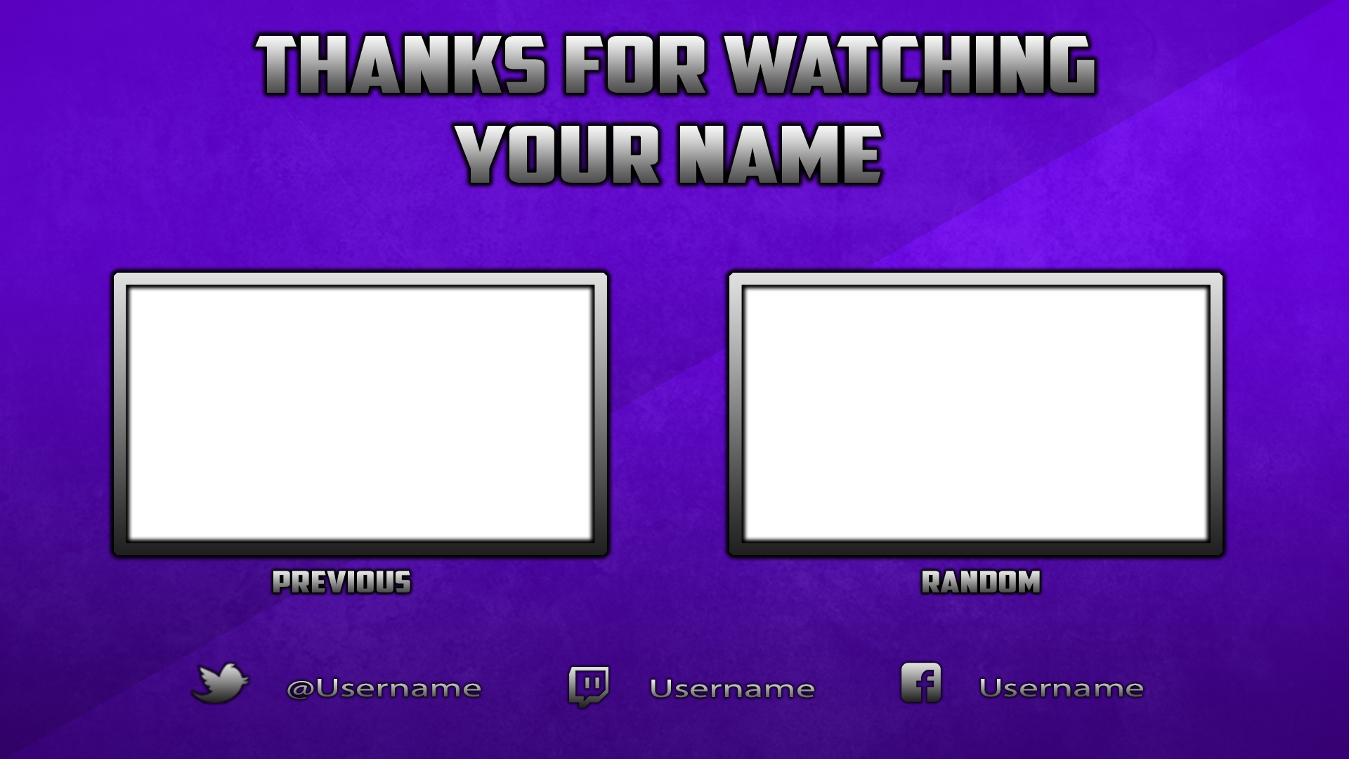 free youtube outro template photoshop by dazgames on