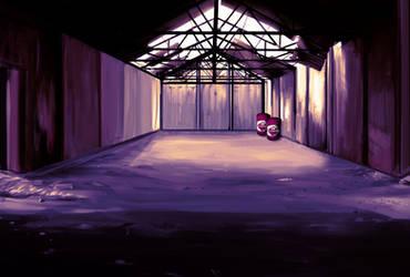 Abandoned Warehouse Painting by DazGames
