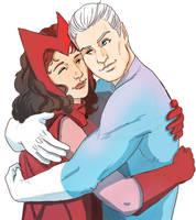 Twin hug by estrellavega