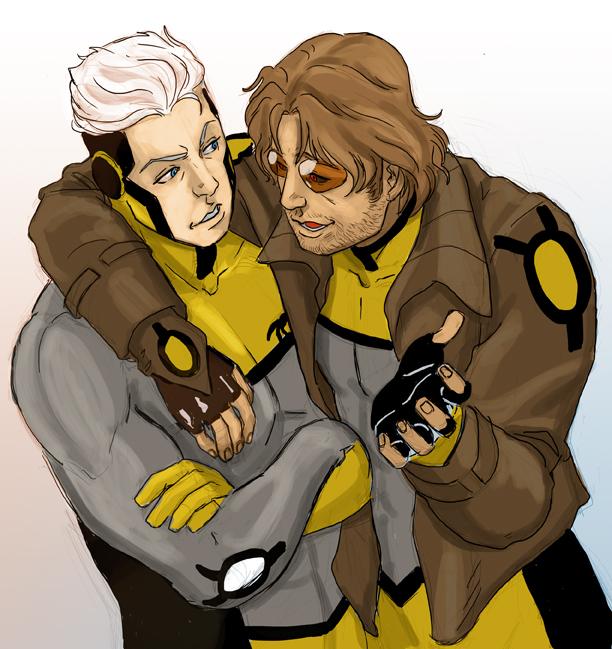 ANXF Quicksilver and Gambit by estrellavega