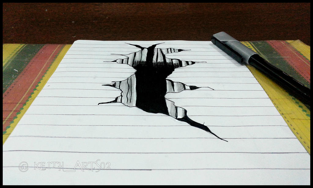 The Hole to the Darkness ~3D Drawing~ by Keith-arts02