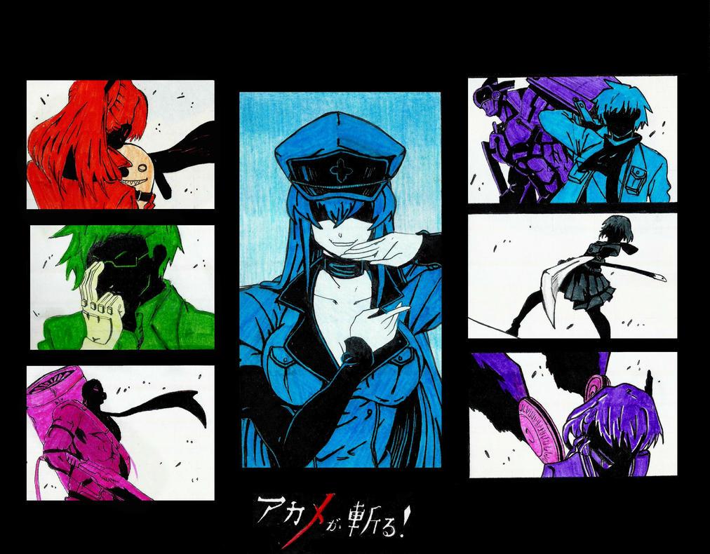 Inktober Week 1 ~Akame ga Kill by Keith-arts02