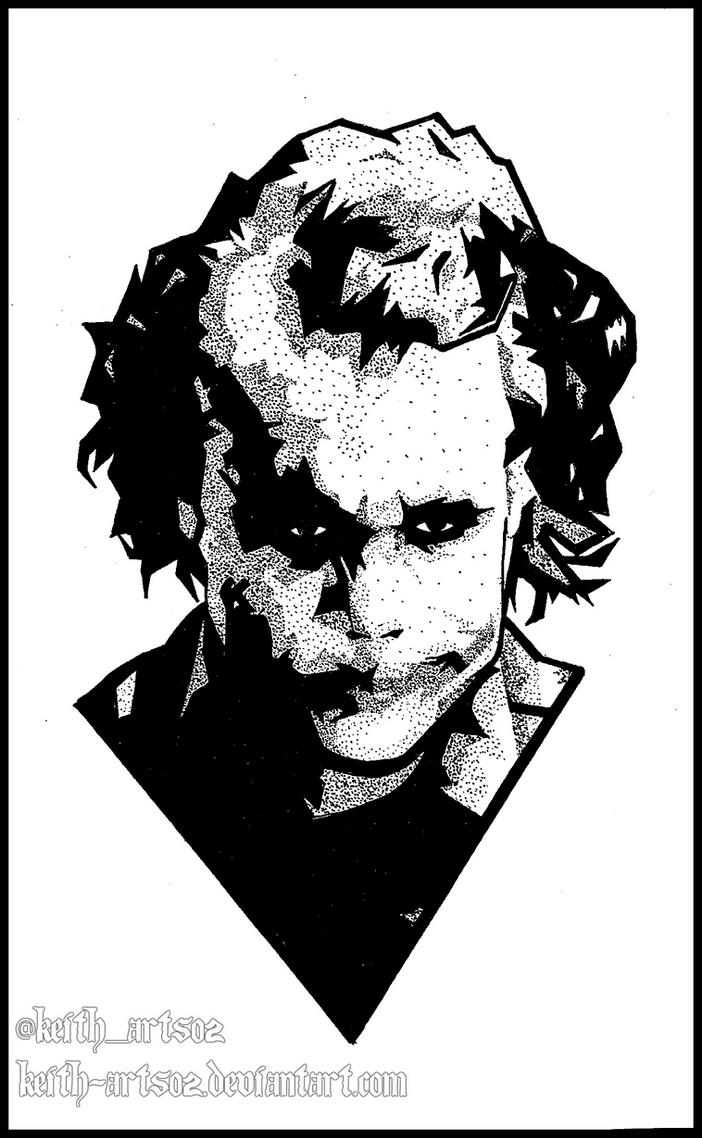 Joker ~ Heath Ledger ~ Doodle by Keith-arts02