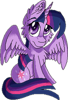 MLP: Pixel: Pagedoll: Twilight Sparkle by Mychelle