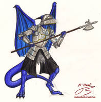 Dragon Halberdier by LieutenantHawk