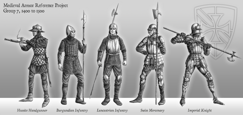 Medieval Armor Reference Project - 1400 to 1500 by LieutenantHawk
