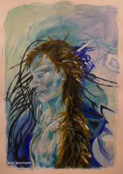 Short Film Acrylic Painting Portrait Grace