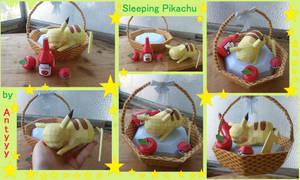 Sleeping Pikachu papercraft pictures