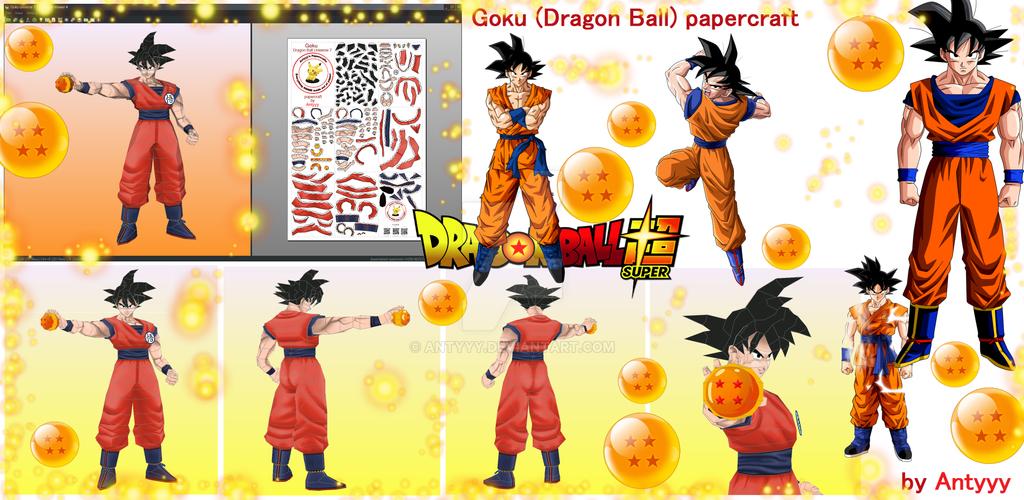 Goku (Dragon Ball) papercraft by Antyyy