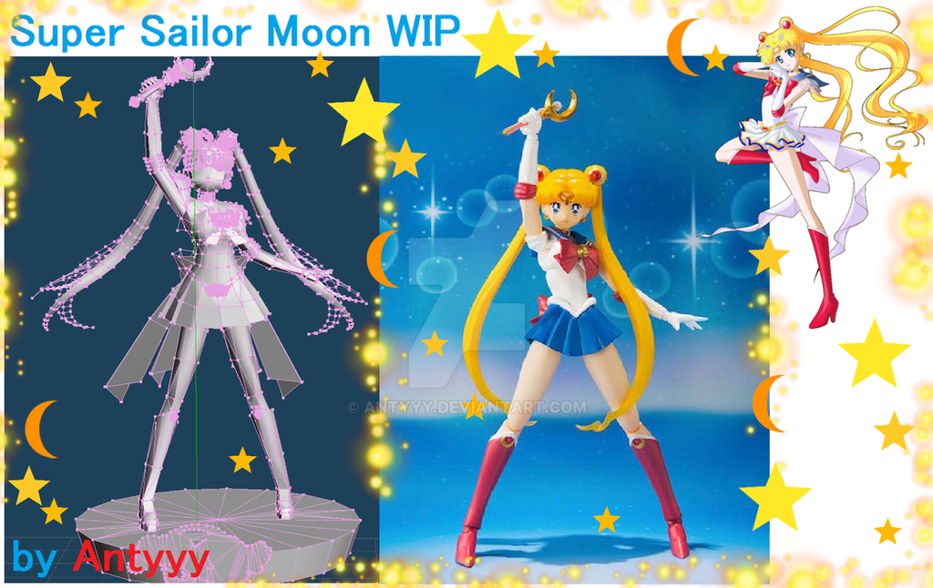 Super Sailor Moon WIP papercraft by Antyyy
