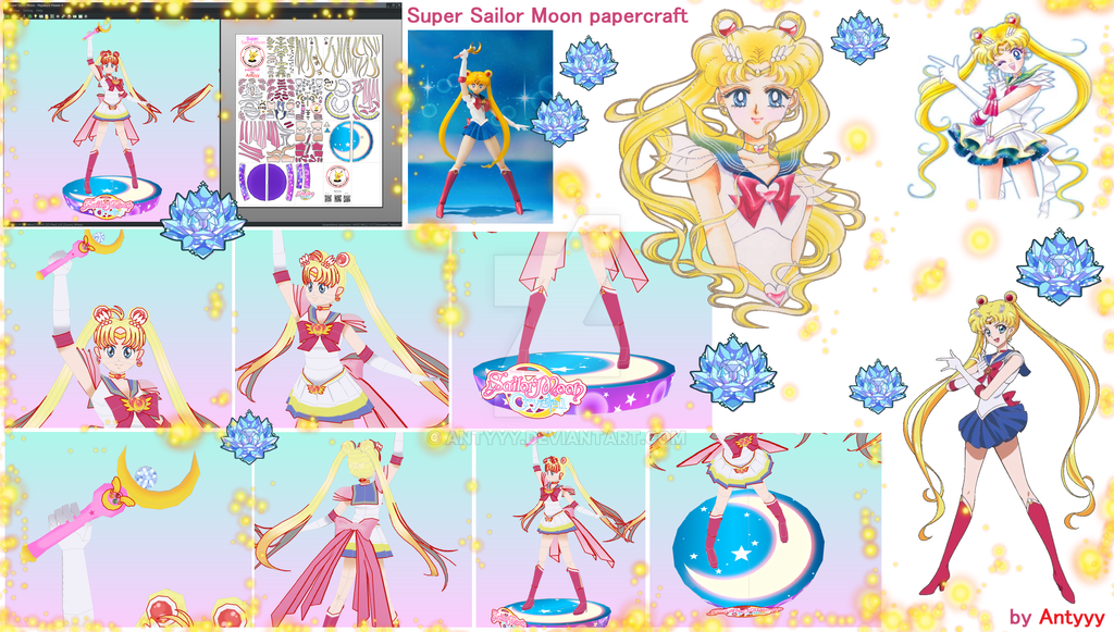 Super Sailor Moon papercraft by Antyyy