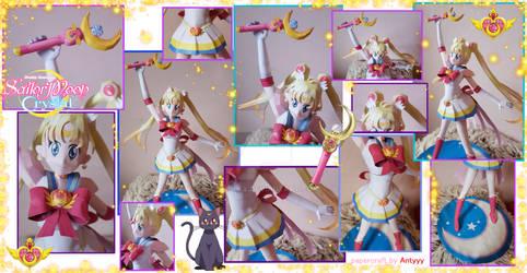 Super Sailor Moon built papercraft