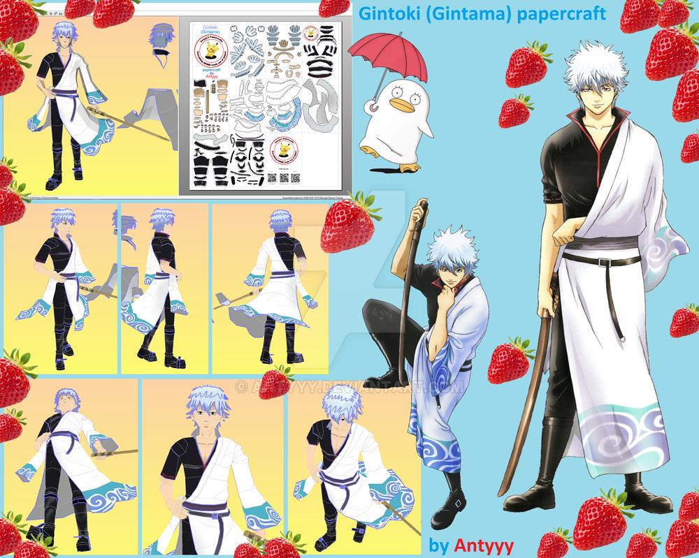 Gintoki (Gintama) papercraft by Antyyy