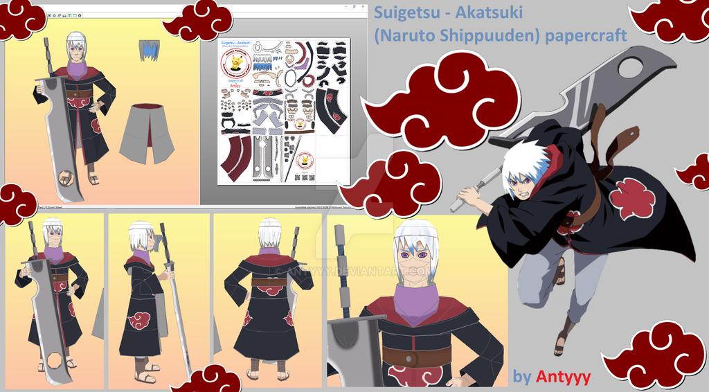 Suigetsu - Akatsuki (Naruto) papercraft by Antyyy